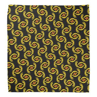 Bandana Jimette yellow and orange Design on black