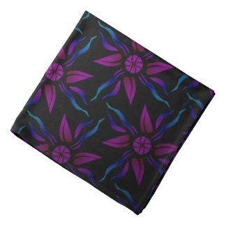 Bandana mauve Jimette blue Design on black