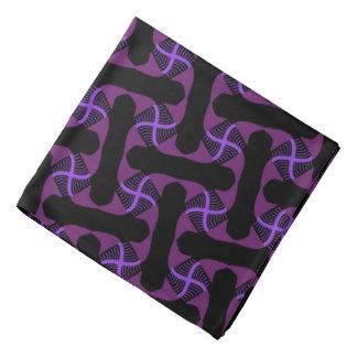 Bandana mauve Jimette Design on black