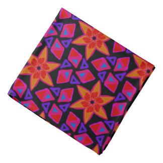 Bandana mauve Jimette orange red Design on black