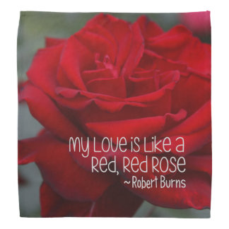 Bandana My Love Red Rose