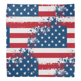 Bandana-Patriotic Flag Print Bandana