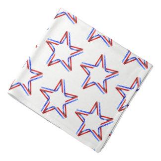 Bandana-Patriotic Stars Print Bandana