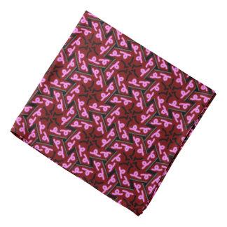 Bandana pink Jimette Design Burgundy and black