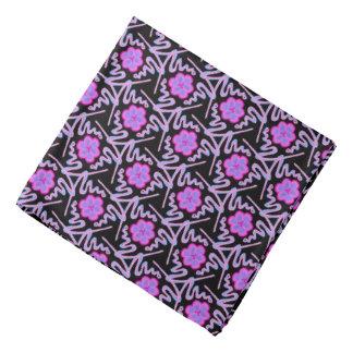 Bandana pink Jimette mauve blue Design on black