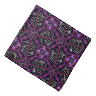 Bandana pink Jimette mauve Design on black