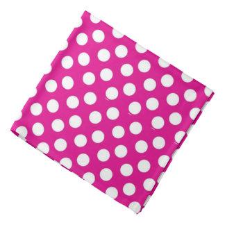 Bandana - Pink With White Polka Dots