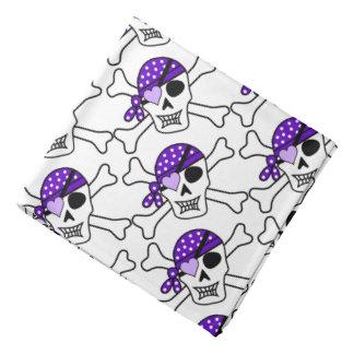 Bandana/Pirate Skull with Heart and Crossbones Bandanna