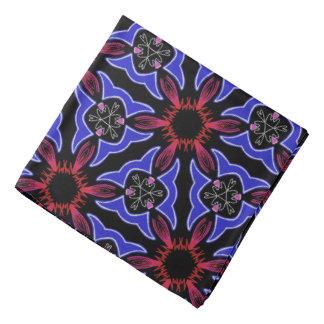 Bandana red Jimette white blue Design on black