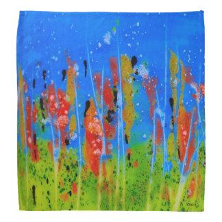 Bandana with splashed-colors