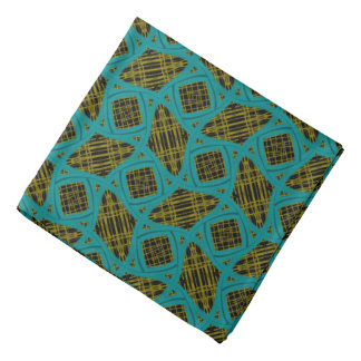 Bandana yellow Jimette blue Design on black