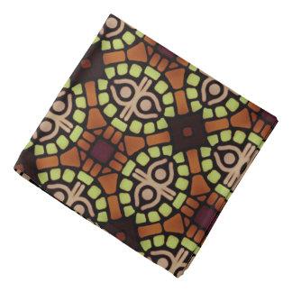 Bandana yellow Jimette brown Design on black