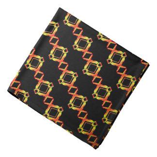 Bandana yellow Jimette orange Design on black