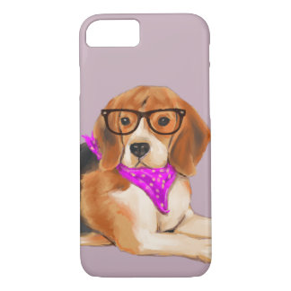 Bandana'd Beagle (Background Color Editable) iPhone 8/7 Case