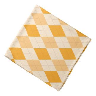 Bandanna Retro yellow argyle rockabilly