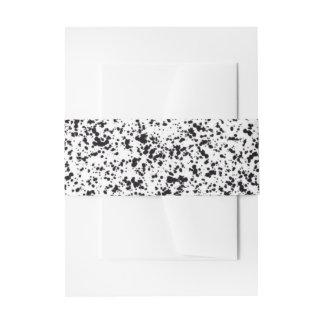Bande dalmatienne de ventre de conception de tache bandeaux de faire-part