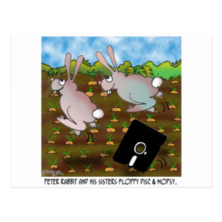Bande dessinée 8724 de lapin carte postale