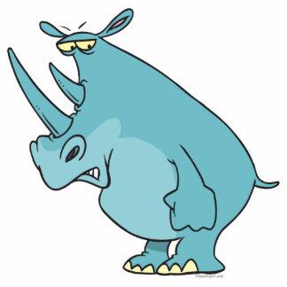 bande dessinée bleue idiote mignonne de rhinocéros photos en relief