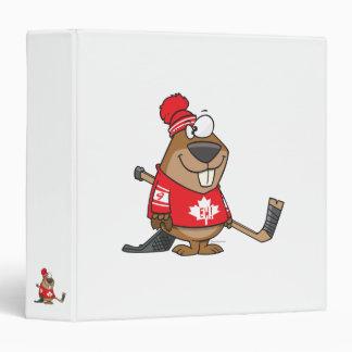 bande dessinée canadienne idiote de castor d'hocke classeur vinyle