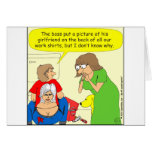 Bande dessinée de chemise de fente de 434 bouts carte de vœux