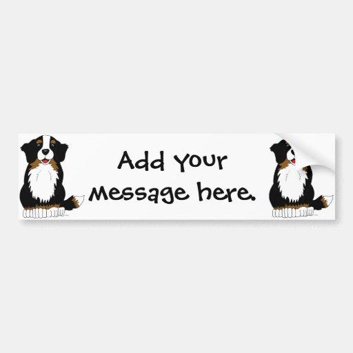 Bande dessinée de chien de montagne de Bernese Autocollant Pour Voiture