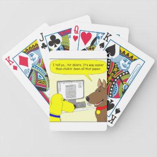bande dessinée de chien de travail de la cartes à jouer