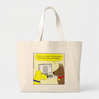 bande dessinée de chien de travail de la sac