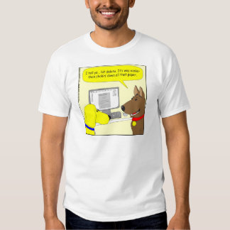 bande dessinée de chien de travail de la t shirts