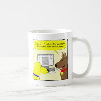 bande dessinée de chien de travail de la mugs à café