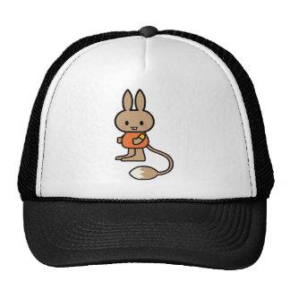 Bande dessinée de lapin casquettes