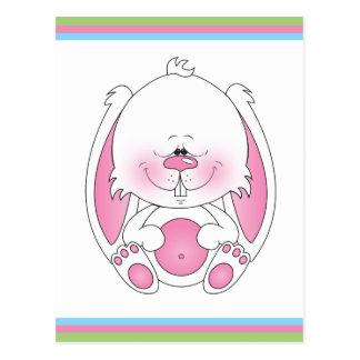 Bande dessinée de lapin de bébé carte postale