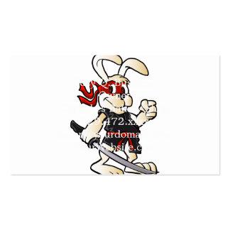 bande dessinée de lapin de ninja carte de visite standard