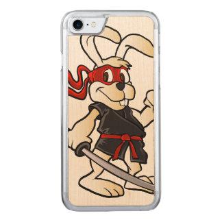 bande dessinée de lapin de ninja coque carved pour iPhone 7