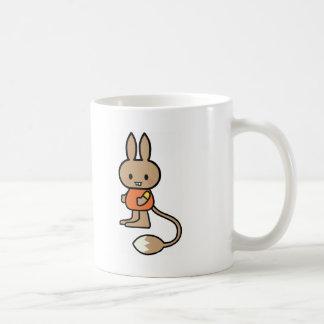 Bande dessinée de lapin tasse
