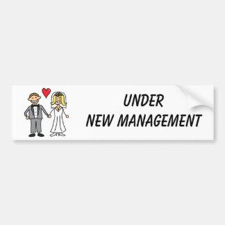 Bande dessinée de mariage - sous la nouvelle gesti autocollant de voiture