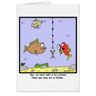 Bande dessinée de pêche Attraits Cartes De Vœux