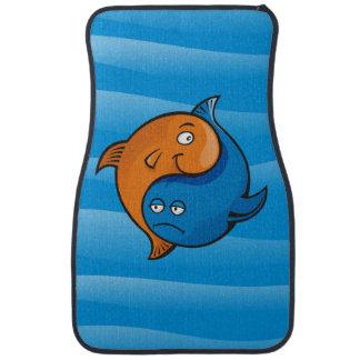 Bande dessinée de poissons de Yin Yang Tapis De Sol