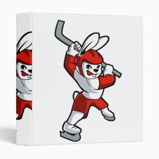 bande dessinée d'hockey de lapin classeur vinyle