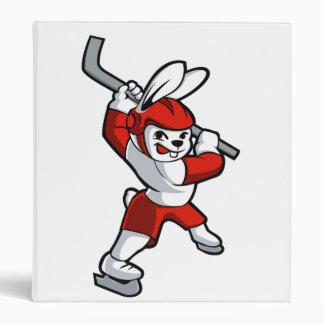 bande dessinée d'hockey de lapin classeurs