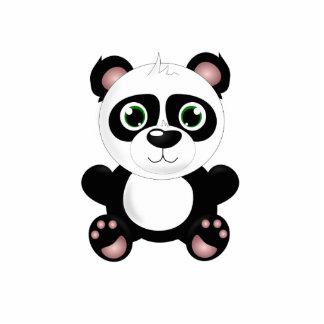 Bande dessinée d'ours panda porte-clé photo sculpture
