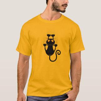 Bande dessinée drôle de chat noir rayant le t-shirt