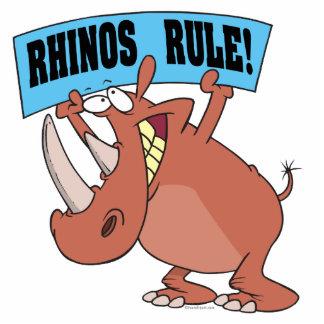 bande dessinée drôle de rhinocéros de règle de rhi découpage en acrylique