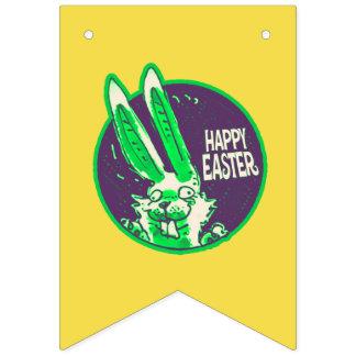 bande dessinée drôle heureuse de lapin de Pâques Bannière À Fanions