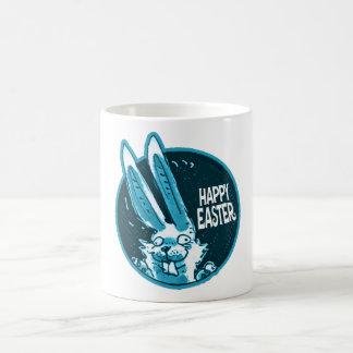 bande dessinée drôle heureuse de lapin de Pâques Mug