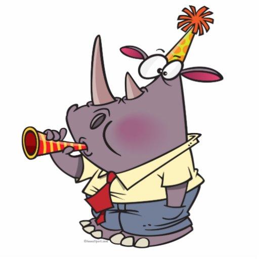 bande dessinée drôle mignonne de rhinocéros de par découpage en acrylique