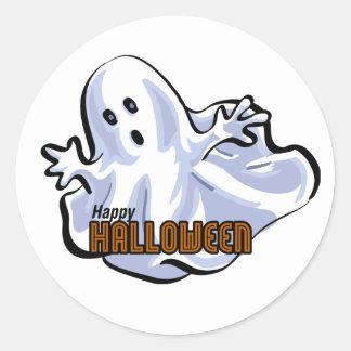 Bande dessinée heureuse de fantôme de Halloween Adhésifs Ronds