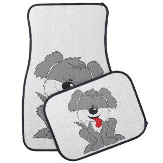 Bande dessinée hirsute mignonne de chiot tapis de sol