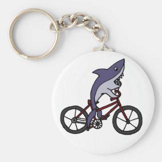 Bande dessinée idiote de bicyclette d équitation d porte-clé