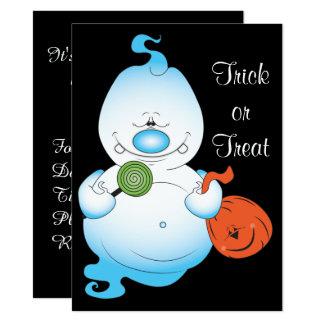 Bande dessinée mignonne de fantôme de Halloween Carton D'invitation 13,97 Cm X 19,05 Cm