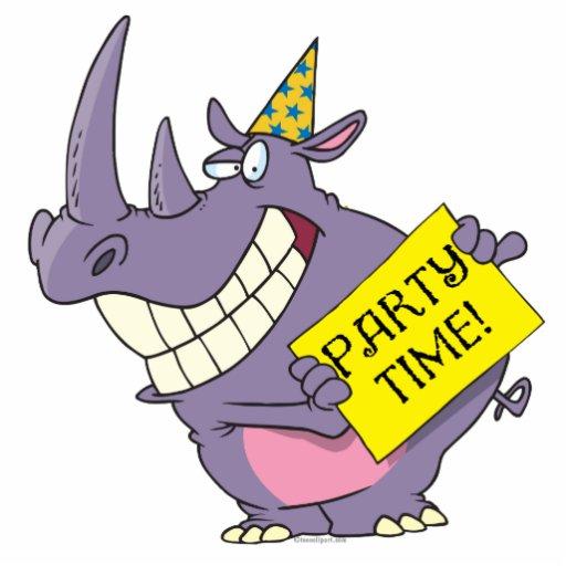 bande dessinée mignonne de rhinocéros de célébrati découpage en acrylique